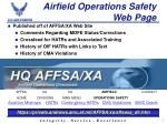 airfield operations safety web page