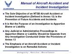 manual of aircraft accident and incident investigation