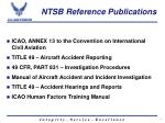 ntsb reference publications