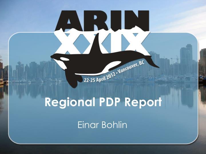 regional pdp report n.