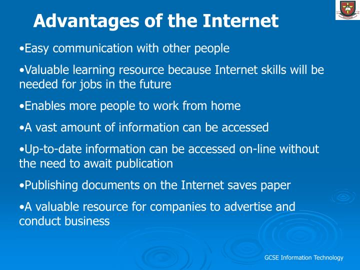 Advantages of the Internet