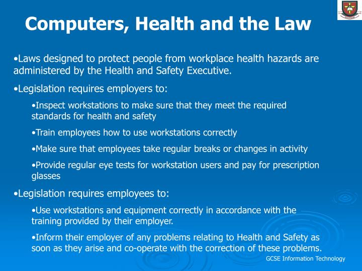 Computers, Health and the Law