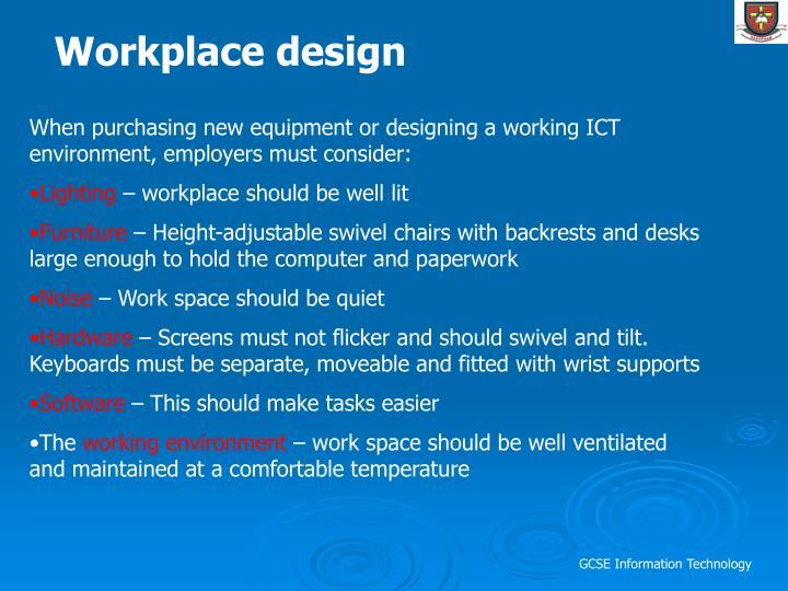 Workplace design