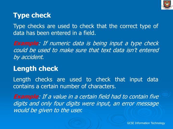 Type check