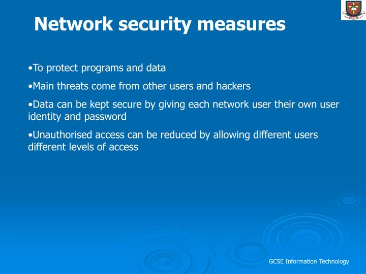 Network security measures