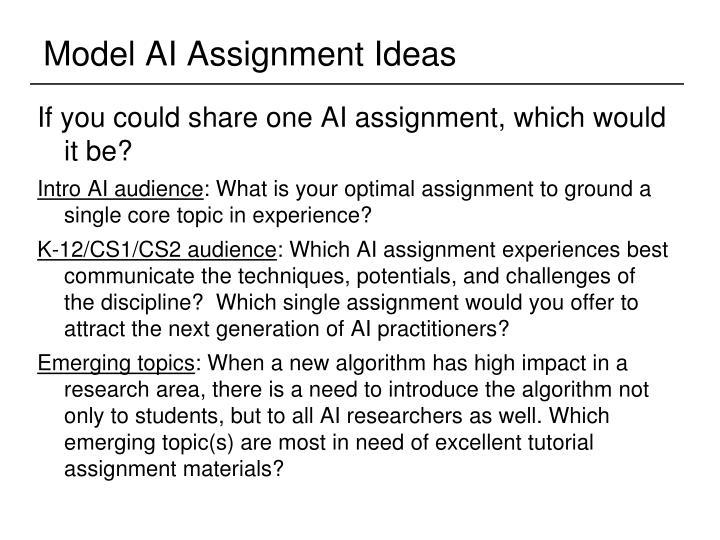 Model AI Assignment Ideas