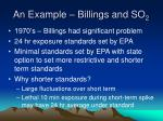 an example billings and so 2