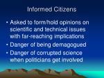 informed citizens