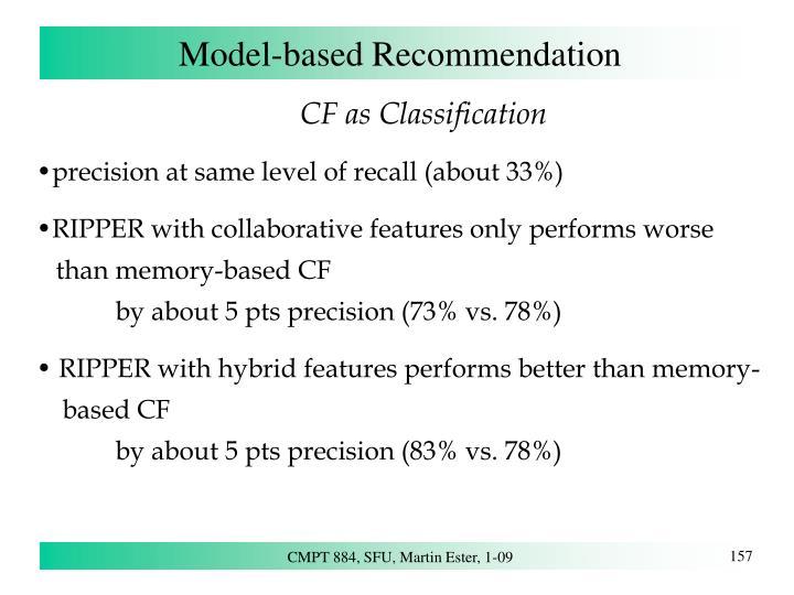 Model-based Recommendation