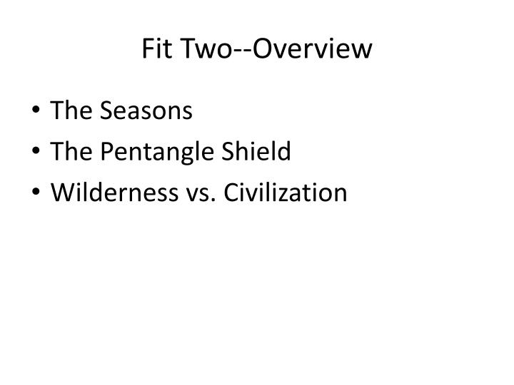 Fit Two--Overview