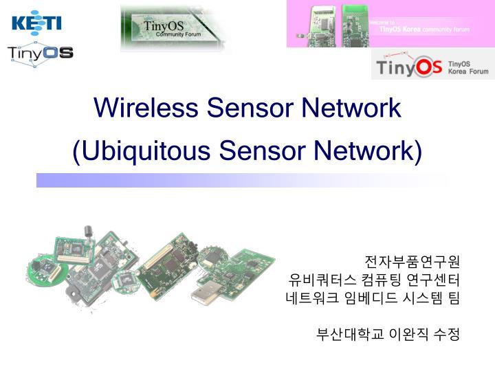 wireless sensor network ubiquitous sensor network n.