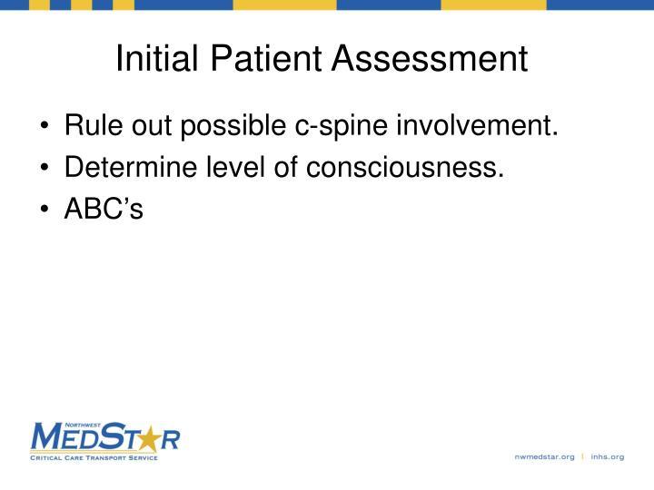 Initial Patient Assessment