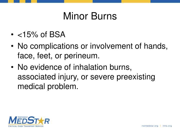 Minor Burns