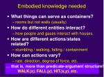 embodied knowledge needed