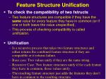 feature structure unification