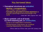 key borrowed ideas