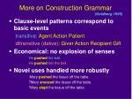 more on construction grammar