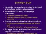 summary ecg