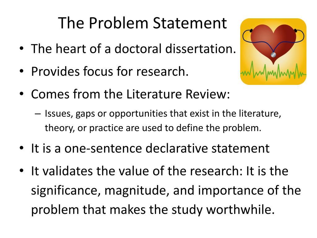 Phd dissertation problem statement