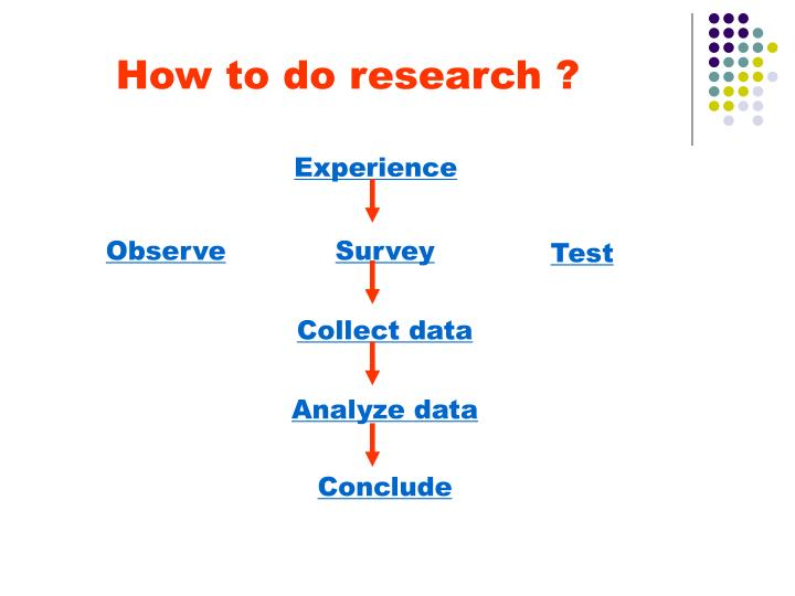 How to do research ?