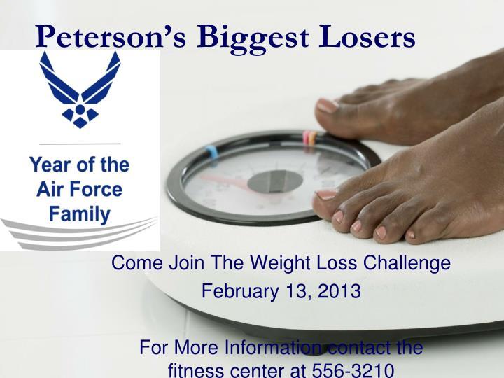peterson s biggest losers n.