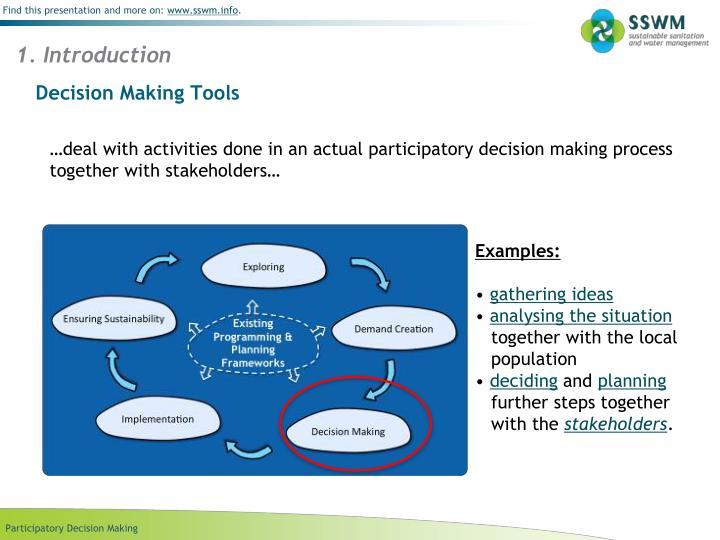Decision making tools
