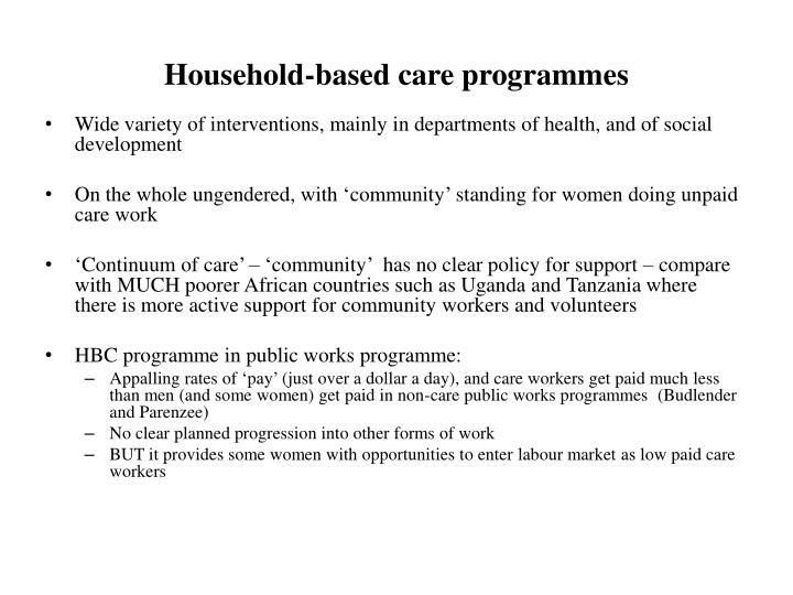 Household-based care programmes