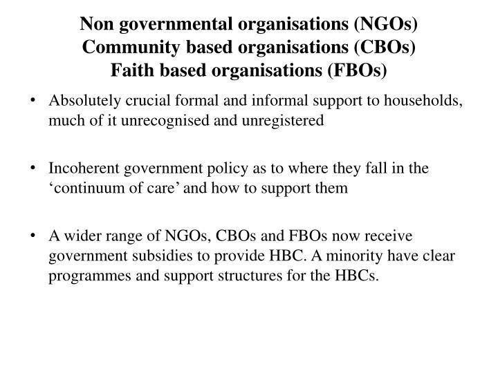 Non governmental organisations (NGOs)