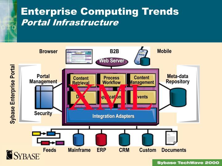 Enterprise computing trends portal infrastructure