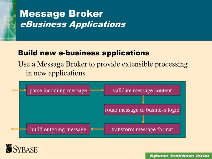 Build new e-business applications