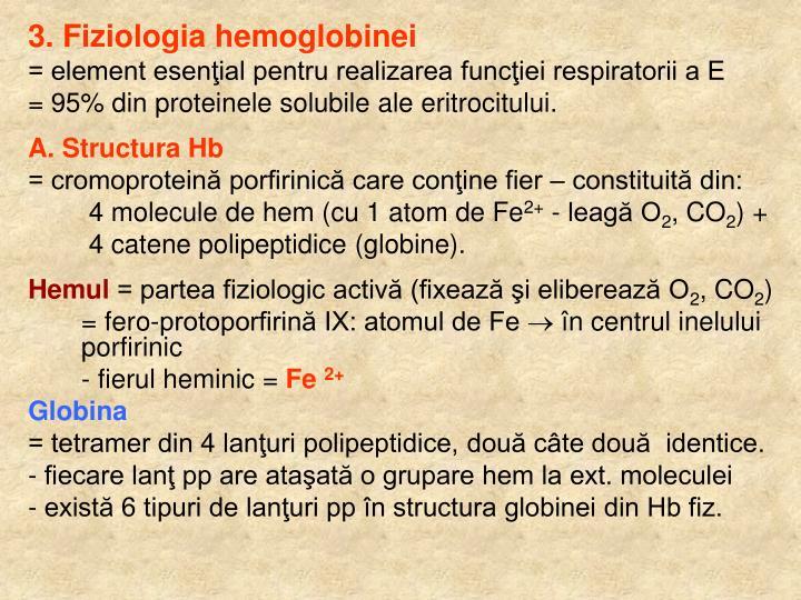 3. Fiziologia hemoglobinei