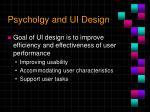psycholgy and ui design