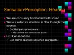 sensation perception hearing