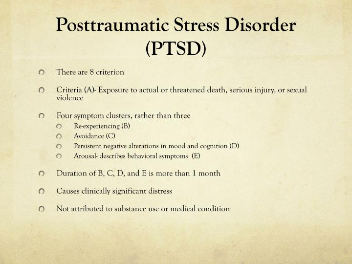 an overview of post traumatic stress disorder Could you or a loved one be experiencing post-traumatic stress disorder (ptsd) learn about the different symptoms and available treatments an overview of the symptoms and treatments for post traumatic stress.