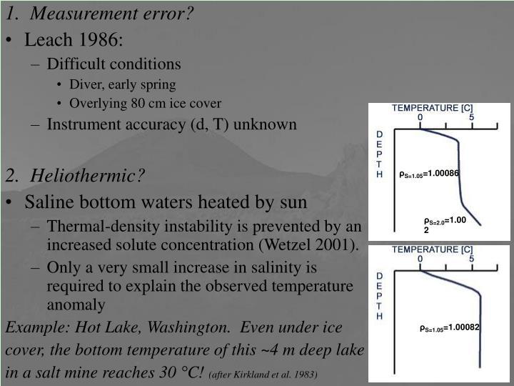 1.  Measurement error?