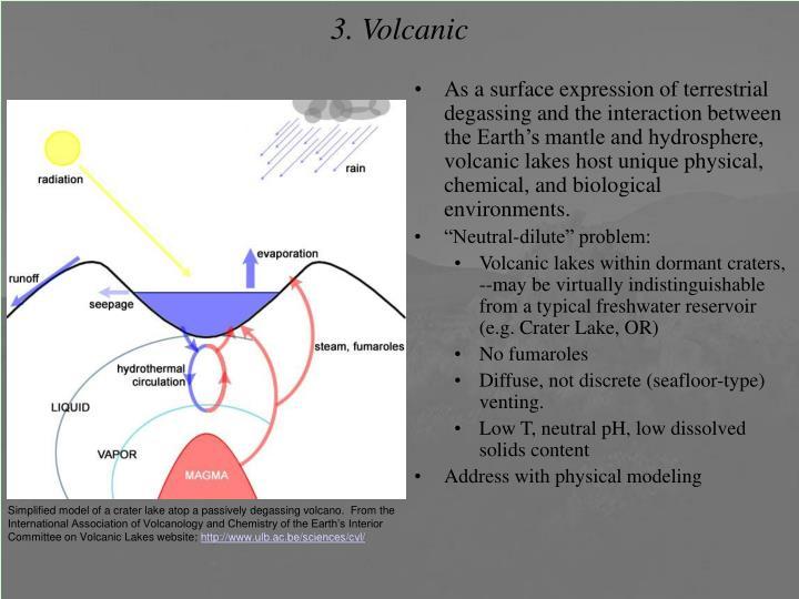 3. Volcanic