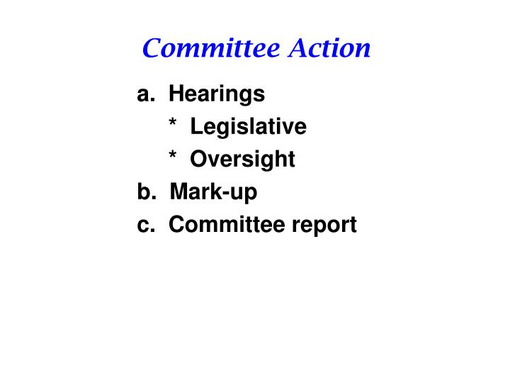 Committee Action