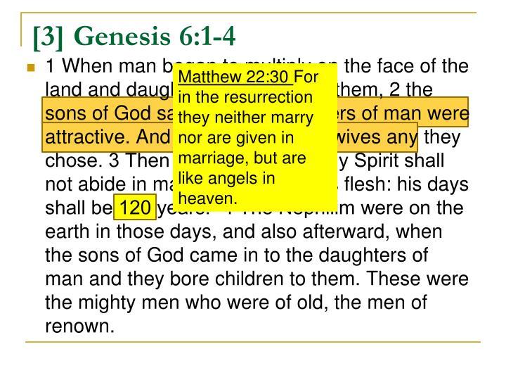 3 genesis 6 1 4