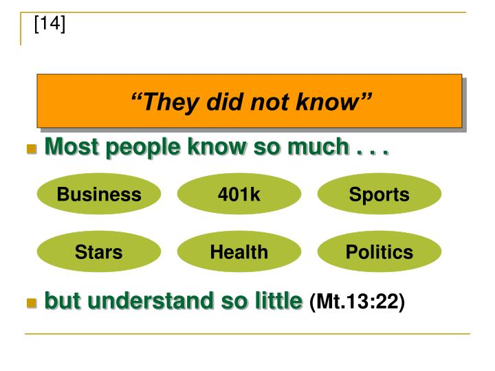 Most people know so much . . .