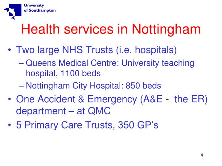 Health services in Nottingham