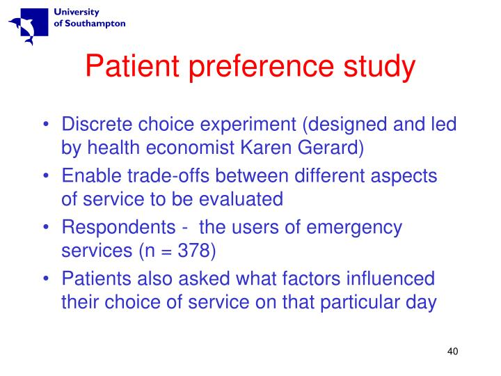 Patient preference study