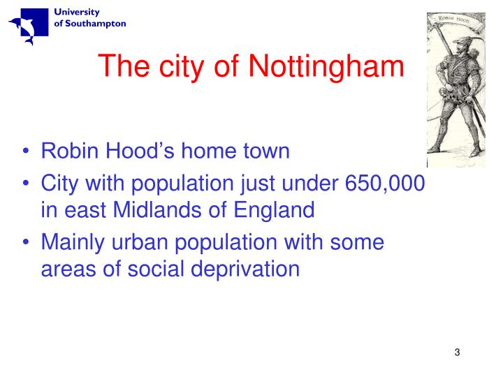 The city of nottingham