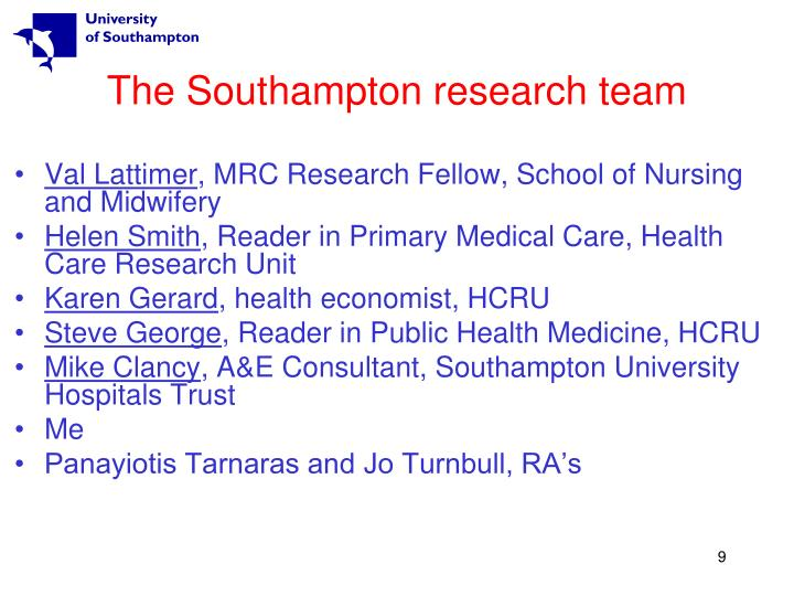 The Southampton research team