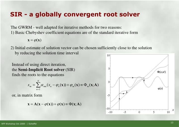 SIR - a globally convergent root solver