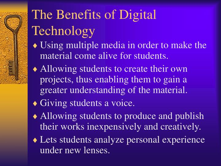 advantages of digital devices I have chosen to discuss the cons of digital devices in the hands of the young as technology is continuing to expand and bringing us many benefits in our.