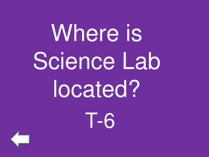 Where is Science Lab located?