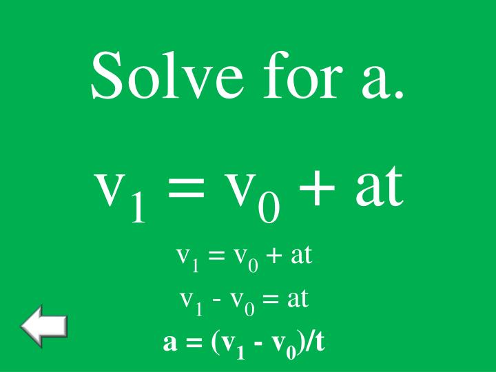 Solve for a.