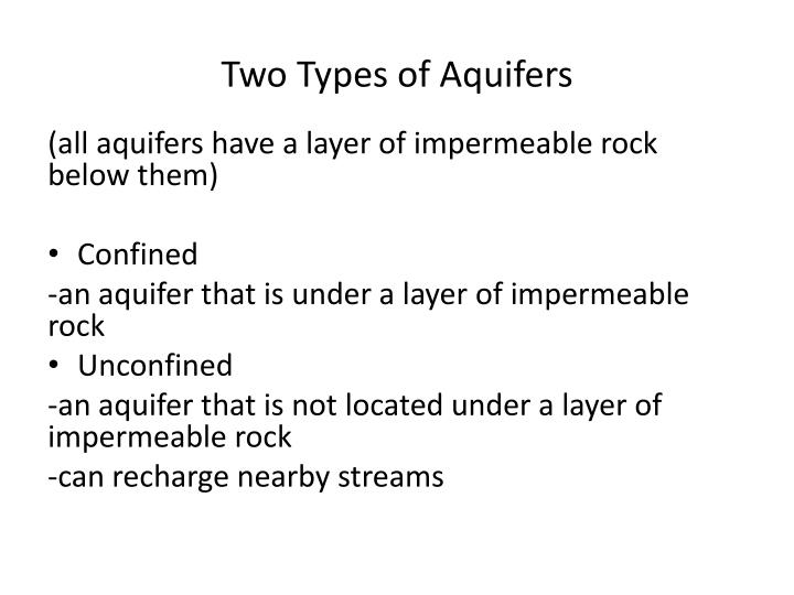 Two Types of Aquifers