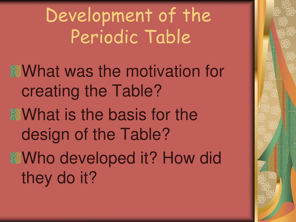 Ppt Development Of The Periodic Table Powerpoint Presentation Id