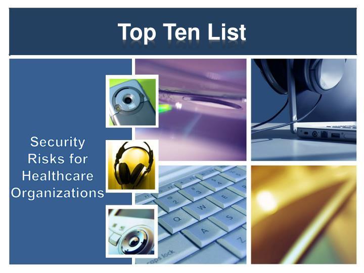 top ten list n.